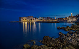 Dubrovnik night Royalty Free Stock Image