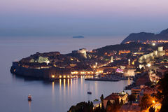 Dubrovnik no por do sol, Croatia Fotos de Stock Royalty Free