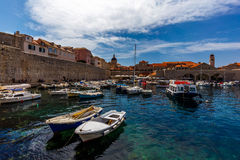 Dubrovnik Old City. On the Adriatic Sea in Croatia, South Dalmatia region Royalty Free Stock Image