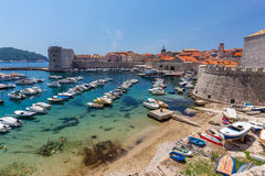 Dubrovnik Old City. On the Adriatic Sea in Croatia, South Dalmatia region Royalty Free Stock Photo