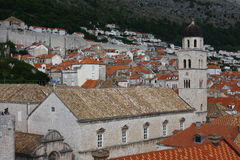 Dubrovnik old city church Croatia Royalty Free Stock Photography