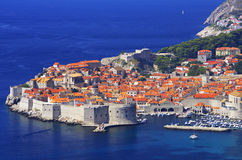 Dubrovnik. Old city in croatia, adriatic pearl royalty free stock photography