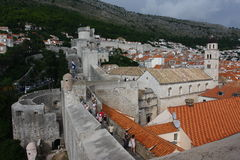 Dubrovnik old city defence wall Royalty Free Stock Photo