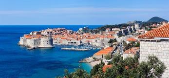 Dubrovnik old city defense walls. Stock Images