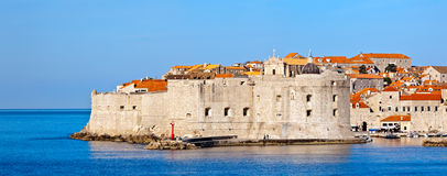 Dubrovnik old city defense walls. Royalty Free Stock Photo