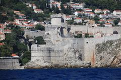 Dubrovnik old city defense walls Stock Photo