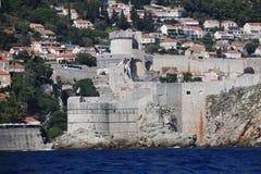 Dubrovnik old city defense walls Stock Photo