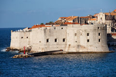 Dubrovnik Old City Fortification Stock Photos