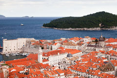 Dubrovnik Old City and Lokrum Island Stock Photography