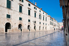 Dubrovnik old city main street Plaza (Stradun) Royalty Free Stock Photography