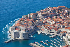 Dubrovnik old city top view Stock Images