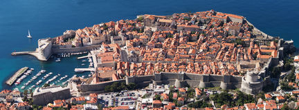 Dubrovnik old city. Top view of Dubrovnik old city, took from Dubrovnik cable car Stock Images