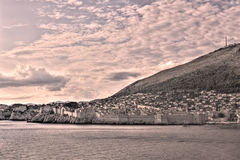 Dubrovnik old city view - HDR image process Royalty Free Stock Photos