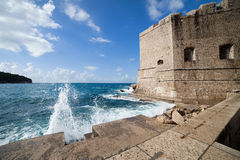 Dubrovnik Old City Walls Stock Image
