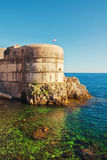Dubrovnik old city walls. At sunset Royalty Free Stock Images