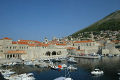 Dubrovnik Old Harbour royalty free stock photography