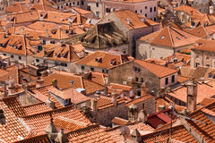 Dubrovnik old town. Detail of red roofs in the old town of Dubrovnik Royalty Free Stock Images
