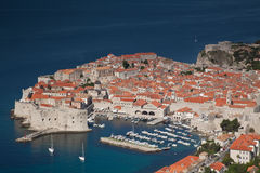 Dubrovnik Old Town. Showing its fortification and marina, a World Heritage Sight Royalty Free Stock Photo