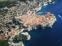 Dubrovnik old town. This is the old town of Dubrovnik with the most famous city walls in the world stock photography