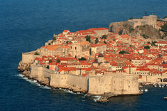 Dubrovnik old town. This is the old town of Dubrovnik with the most famous city walls in the world Stock Image