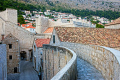 Dubrovnik Old Town. Medieval architecture, view from the city wall Stock Image