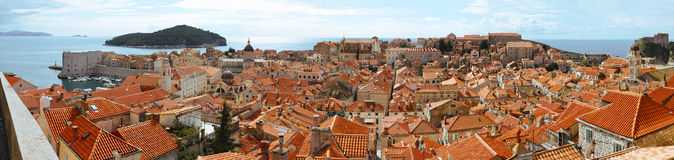 Dubrovnik old town. View to the Dubrovnik old town, Croatia Stock Image