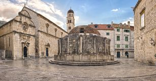 Dubrovnik Old Town, Big Onofrio's Fountain Stock Image