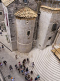 Dubrovnik old town church entrance spectacular stairs Royalty Free Stock Images