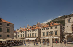Dubrovnik old town city  and sightseeing tourists travel croatia Stock Photo