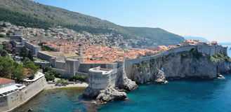 Dubrovnik old town and city wall. On the Adriatic Sea Royalty Free Stock Photo