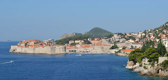 Dubrovnik old town city wall. Royalty Free Stock Photography