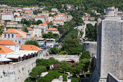 Dubrovnik old town city walls Royalty Free Stock Photo