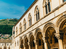 Dubrovnik Old Town, Croatia. Inside the city, views of streets a Royalty Free Stock Photo