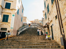Dubrovnik Old Town, Croatia. Inside the city, views of streets a Royalty Free Stock Photos