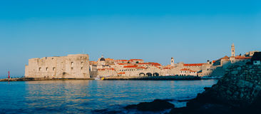 Dubrovnik Old Town, Croatia. Inside the city, views of streets a Royalty Free Stock Image