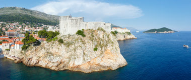 Dubrovnik Old Town (Croatia) panorama Royalty Free Stock Images