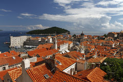 Dubrovnik old town, Croatia. View of Dubrovnik old town Stock Image