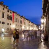Dubrovnik Old Town, at dusk Stock Image
