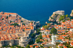 Dubrovnik Old town and Fort Lovrijenac Royalty Free Stock Photo