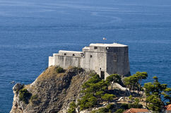 Dubrovnik old town fortress Stock Image