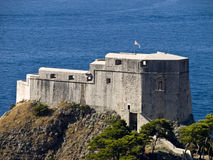 Dubrovnik old town fortress. Fortress Lovrijenac in the Dubrovnik old town. Close up Stock Photo