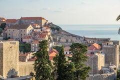 Dubrovnik. Old town and fortress Royalty Free Stock Images
