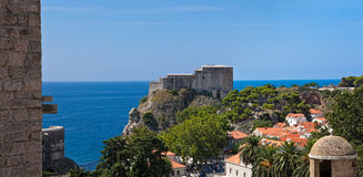 Dubrovnik old town - fortress Lovrijenac Royalty Free Stock Photo