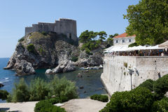 Dubrovnik old town - fortress Lovrijenac. And city walls Stock Image