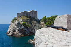 Dubrovnik old town - fortress Lovrijenac Stock Photo