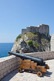 Dubrovnik old town - fortress Lovrijenac Royalty Free Stock Image