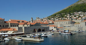 Dubrovnik Old Town Harbor Royalty Free Stock Photo
