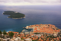Dubrovnik Old Town and Lokrum island Royalty Free Stock Image