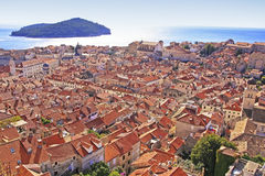 Dubrovnik Old Town and Lokrum island, Dubrovnik Stock Photography