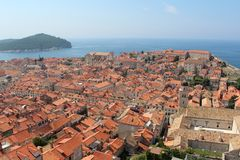 Dubrovnik. Old Town. Lokrum Island Stock Photo